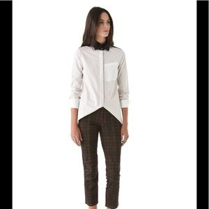 Derek lam 10 Crosby high low button down top